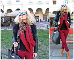 Theano Lazaridou - Zara Colorful Jeans - The leopard scarf!