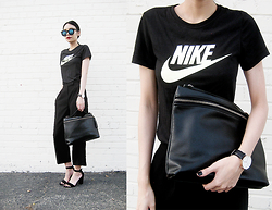 Visa Lom - Nike Futura Fade T Shirt, Candy Color Women Handbag Cross Body Bag, Daniel Wellington Classic Sheffield Lady Watch, Zerouv Trendy Womens Round Cat Eye Revo Lens Matte Black Sunglasses 9584 - Get The Label
