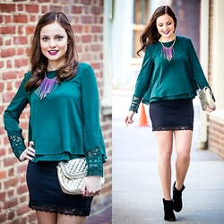 Susana Ares - Zara Shirt, H&M Skirt, Fashion In The Street Diy Necklace - New post: 3,2,1...
