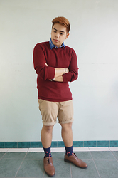 Seff Francisco - Forever 21 Sweater, H&M Khaki, Topman Socks, Salvatore Man Sm Store - Men Dress