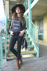 Larissa (Larz) May - Dcxv Industries Top, Brixton Hat, The Frye Company Boots - MY NOT SO TYPICAL SUNDAY: DCXV INDUSTRIES