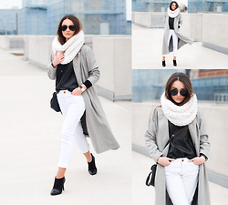 Style on Camera _ - Sheinside Coat - Long grey coat