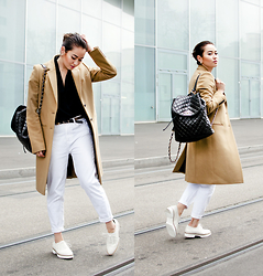 Romina Ch - Chanel Backpack, Joseph Coat, Minelli Shoes, La Halle Bf Jeans - Swing