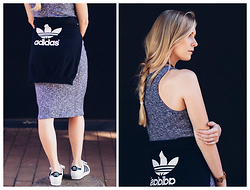 Keagan Green - Adidas Sweater, Cotton On Dress, Adidas Sneakers - The Trefoil