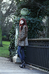 Lady Juliet - Miss Selfridge Leopard Coat, Miista Batilda Boots - Leopard Coat