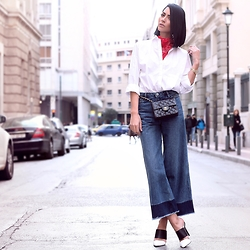 Konstantina Tzagaraki - Shirt, Jeans, Mules, Chanel Bag - Words are better off felt than understood..