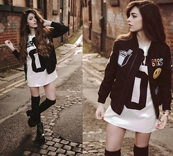 Stacey Gray Macdonald - Drop Dead Take Out Jacket, Unif Nu Frenz Dress - Nu Frenz