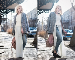 Asya Marevskaya - Sheinside Cardigans, H&M Boots, Mango Dresse, Topshop Bag, American Eagle Outfitters Jeans - Sunny Day