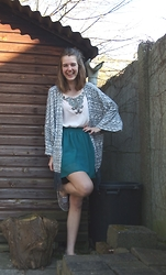 Charlotte Cocopop - Primark Kimono, Primark Top, Koton Skirt, H&M Shoes - A positive mind will give you a positive life