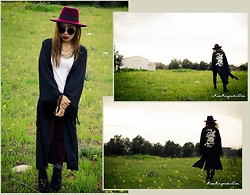 Ojie Papalli - Boohoo Fedora Hat, Boohoo Kimono, Tally Weijl Shirt, Ojiepapalli Necklace - Get the Samurai