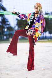 AMINTA ONLINE - Boodwah Bell Bottoms, Vintage Find Me As @Amintaonline - Velvet Bell Bottoms
