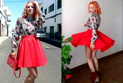 Laurentia E.E. - Vintage Shirt, Diy Circle Skirt - Circles