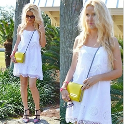 Andrea Jueong - Charlotte Russe Dress, Vince Camuto Bag, Charlotte Russe Shoes - Embroidery Dress