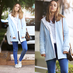Ana Luísa Braun - Tbdress Coat, Louis Vuitton Bag, Michael Kors Sneakers - BABY BLUE (repost)