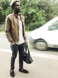 Telmo Van Dunem - H&M Hat, River Island Jacket, Bershka T Shirt, H&M Jeans, Topman Loafers, Topman Bag, Toywatch Watch - Vip Happiness