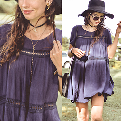 Elle-May Leckenby - Navy Shift Layer Dress - Can't get you off my mind