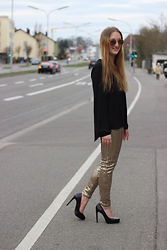 WMBG . - H&M Pants, Zara High Heels - GOLD