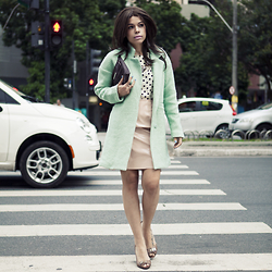 Priscila Diniz - Coat, Similar Skirt - Pastels and Vinyl