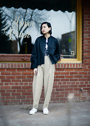 Alyssa Lau - Samuji Lebel Trousers, Kowtow Showtime Jacket - Proportions