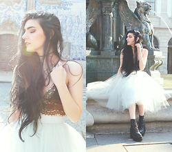CLAUDIA Holynights - Alexandra Grecco Tulle Skirt, Style Moi Lace Top, Unif Boots - Fairy tail