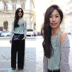 Lily T - Mango Wide Black Pants - CHIC IN PRAHA