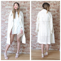 Emily Men - Free People Lace Trenchcoat - Lace on Lace