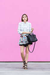 Ania B - Coach Swagger Carryall, Rails La Plaid, Heartloom Skort, Tibi Shoes, Moschino Clipons - #whatsyourswagger