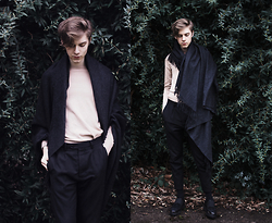 Mikko Puttonen - Acne Studios Scarf, Cos Sweater, All Saints Trousers, All Saints Shoes - Cold skin