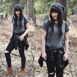 Jocelyn Jacobson - Forever 21 Vintage Tee, Hibou Boots - The Forest