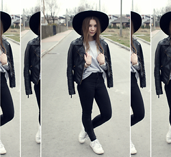 Karina Mucha - Sheinside Black Jacket, Pull & Bear Black Pants - ADDICTED TO BLACK