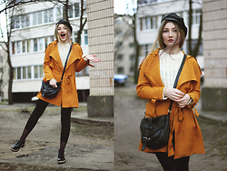 ♡Anita Kurkach♡ - Wholesale7 Coat, Wholesale7 Sweater, Wholesale7 Shoes, Lalalilo Hat - Kat Dahlia – I Think I'm In Love