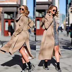 Justine I - Sentaler Coat, Calvin Klein Socks, Narces Dress, Gucci Bag - Little Glam