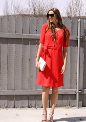 Cindy Batchelor - Shabby Apple Dress - A pretty red Spring Dress