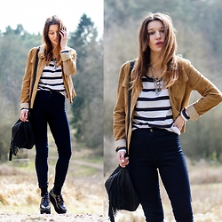 Agata P - Style Moi Stylemoi Highwaisted Jeans, Mango Suede Jacket, Primark Top - The World Won't Wait