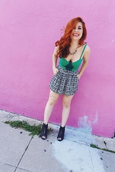 Erin Ashley Goldman - Urban Outfitters Tank Top, Forever 21 Skirt, Vintage Shoes, Forever 21 Necklace - Kiss Me, I'm Irish