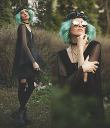 Gina Vadana - Choies Jeans, Vintageena Shop Dress, Carra Accessories Headpiece, Choies Sunnies - BOHO QUEEN || PART III