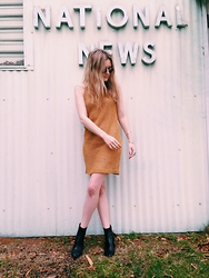 Kirby C - Vintage Anne Klein Dress, Isabel Marant Boots - No. 10