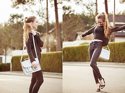 Fanni ♥ - Only Pullover, New Look Coated Pants, New Look Heels, Six Silver Bag - Hello Spring!