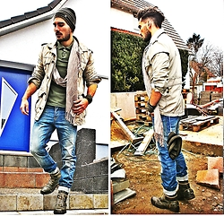 Mildan Soner - H&M Parka, Mustang Army Boots, Bershka Twisted Jeans, Bench Beanie - My main mission was to take care of you...
