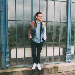 Florian Roser - Y 3 Jacket, Cos T Shirt, Adidas Sneakers - Gradient Jacket
