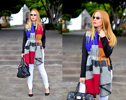 Nery Hdez - Freyrs Sunglasses, Oasap Jersey, Chic Wish Scarf - April Rain