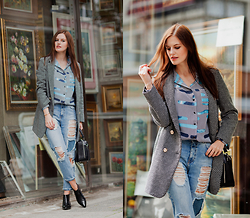 Viktoriya Sener - Lightinthebox Coat, Asos Shirt, Pull & Bear Jeans, Hotic Bag, Hotic Booties - GALLERY
