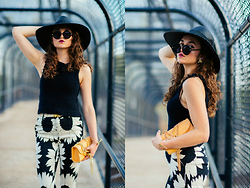 Larissa (Larz) May - Lauren Cecci Bag, Madewell Hat, Alice And Olivia Pants, Karen Walker Sunglasses - THE POWER OF PANTS
