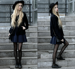 Eliza Modex - H&M Hat, Colin's Jacket, Befree Skirts, Centro Shoes, Kira Plastinina Bag - Leanness