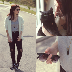 Adriana R. - Sheinside Coat, Ebay Sunnies, Choies Necklace, Choies Pants, Nike Free Run - EASY LIKE A SUNDAY MORNING