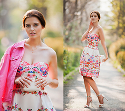 Viktoriya Sener - Tb Dress Pink Denim Jacket, Koton Clutch, Chi London Dress, Mango Sandals - IN PINK