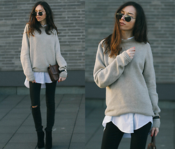 Bea G - Sweater, Shirt, Jeans, Bag, Shoes - Fade Out