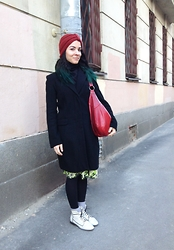 Anastasiia - Lindex Turban, New Yorker Big Bag, Incity Coat, Diy - Kandibober. That's how they call my turban