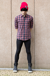 Joffery Hollsworth - H&M Plaid Shirt, H&M Black Skinnies, Balmain Zipper High Tops - The Punk in the Host Club