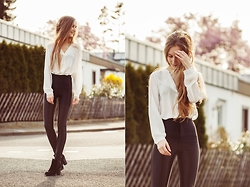 Fanni ♥ - Asos Blouse, American Apparel Disco Pants, Bershka Boots - I Love You